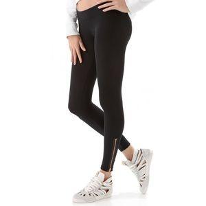 LNA Pants - LNA Zipper Leggings Black Licorice Small