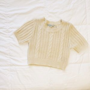 cropped sweater tee