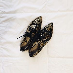 anthropologie rosebloom oxfords