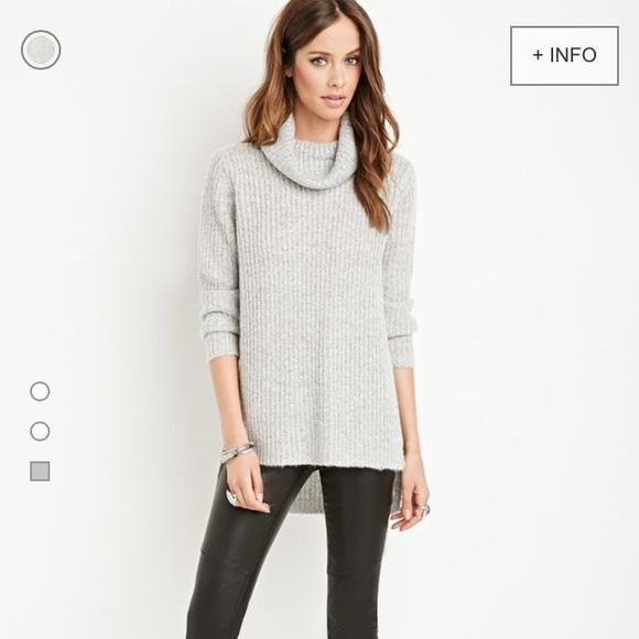 Forever 21 Sweaters Ribbed Slit Turtleneck Poshmark
