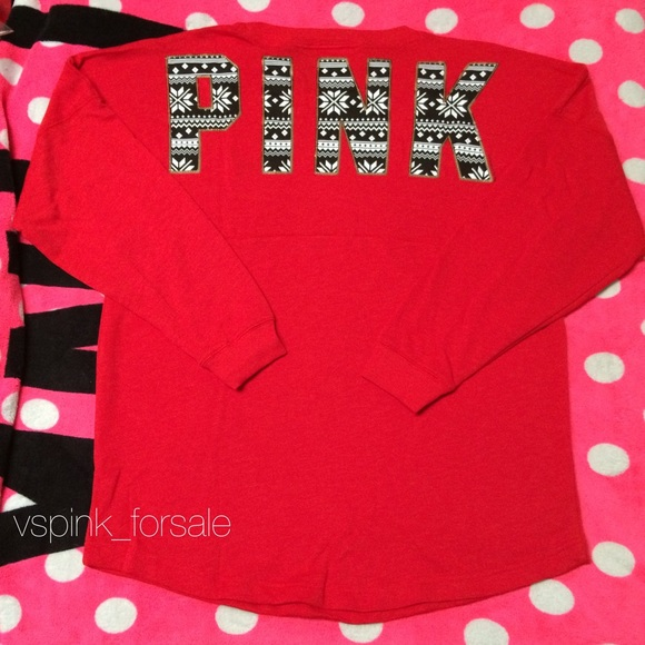 PINK Victoria's Secret - SOLD 🎀 VS PINK Holiday Bling Varsity ...