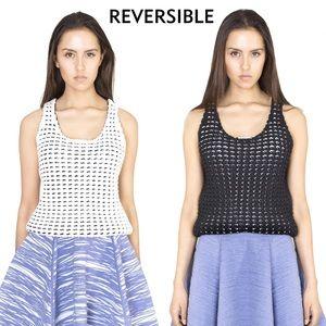 NWT Reversible Emily Keller Mesh Knit Tank Top