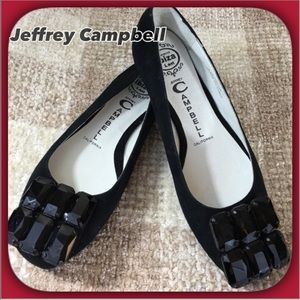 Jeffrey Campbell Shoes - Jeffrey Campbell NEW Black Suede Jeweled Flats