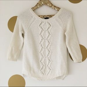 Cynthia Rowley Sweaters - Cynthia Rowley Cream Button Back Sweater
