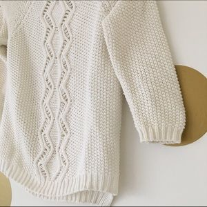 Cynthia Rowley Sweaters - Cynthia Rowley Cream Button Back Sweater