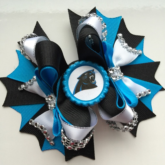 Accessories - Carolina Panthers boutique hair bow d994da36a