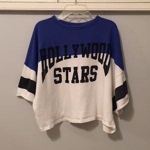 Hollywood Star Cropped Sweatshirt Shirt