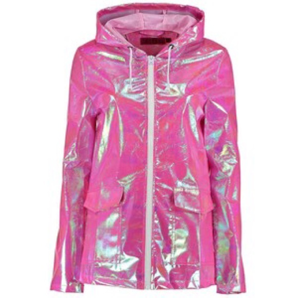 47e3c0ec4c6ab Boohoo Jackets   Blazers - Pink Holographic Jacket - Ragged Priest Inspired