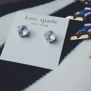 kate spade Jewelry - Silver Kate Spade Gumdrop Earrings