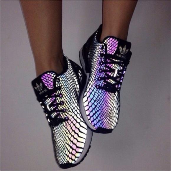 buy popular fcb79 20861 Adidas Xeno flux snakeskin reflective sneakers NWT