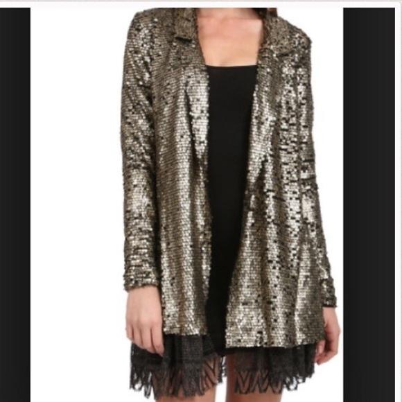 Zara Silver Sequin Cardigan 45