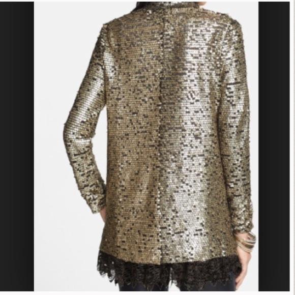 Zara Silver Sequin Cardigan 5