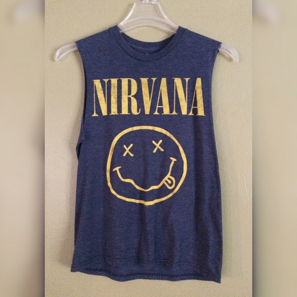 Nirvana Blue Nevermind Long-Sleeve T-Shirt $ $ Online Exclusive! 20% OFF. QuickView; Nirvana Shirts Is your wardrobe starting to smell like teen spirit? Well upgrade it with some great Nirvana shirts from Hot Topic. Make people happy with a Nirvana Smiley t-shirt. Bring a legend back to life with a variety of Kurt Cobain shirts.