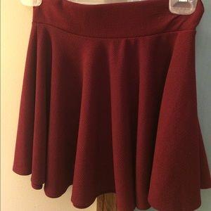 ASOS maroon mini skirt