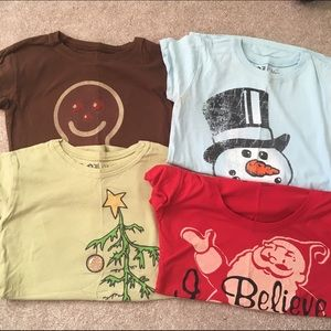 Target Tops - Four Christmas tee shirts