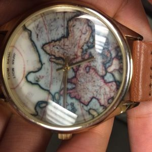 Japan movt accessories a world map watch worn once poshmark japan movt accessories a world map watch worn once gumiabroncs Gallery