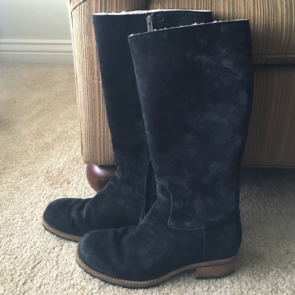 UGG Broome Black Tall Suede Boots
