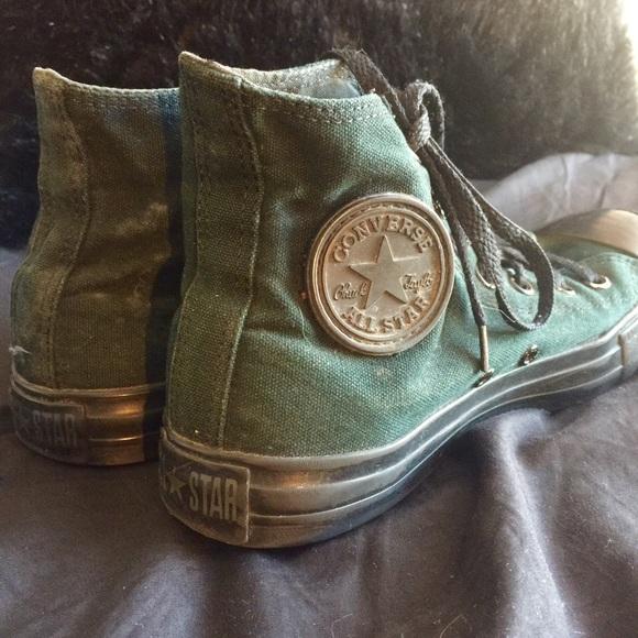 Converse Shoes - Dark Green Converse High-Tops d8375467a0ec