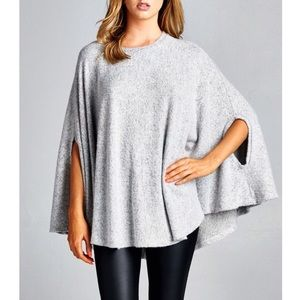 "X ""Beyond the Stars"" Loose Cape Poncho Top"