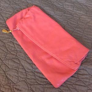 Handbags - Pink Italian Leather Clutch