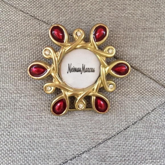 Jay strongwater Accessories | Gold And Red Frame Small | Poshmark