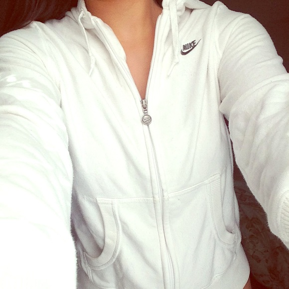 White Nike Zipup Hoodie | Poshmark
