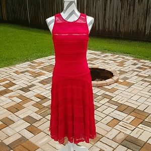 Sangria Dresses & Skirts - Red Lace Dress