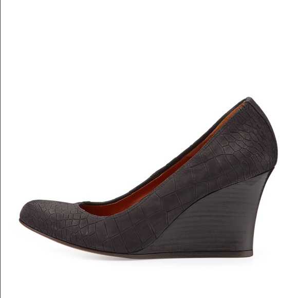 Lanvin Embossed Leather Wedge Pumps pictures online where to buy fpIjY8N5Q