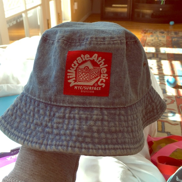 8724e40b5ad Milkcrate Athletics denim bucket hat. M 564f6dd72de512a2ae010c2e