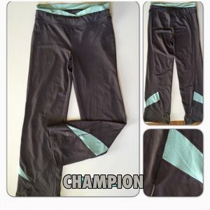 Champion exercise gym pants Gray and Turk Small