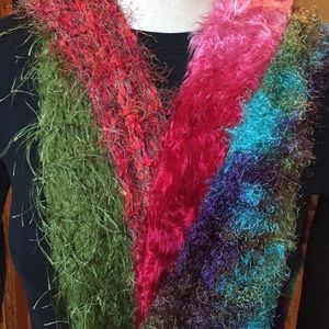 Accessories - Set of 4 Hand-Knitted Colorful Scarves