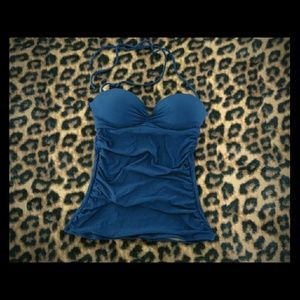 Blue Ruched Tankini