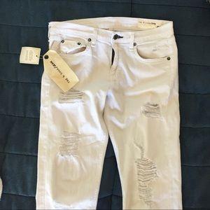 Rag&Bone The Dre Slim Boyfriend Jeans in White