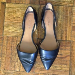 J. Crew Shoes - Jcrew black leather d'orsay flats