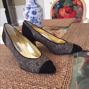 Escada Shoes - 💐ESCADA ...tweed and black suede shoes