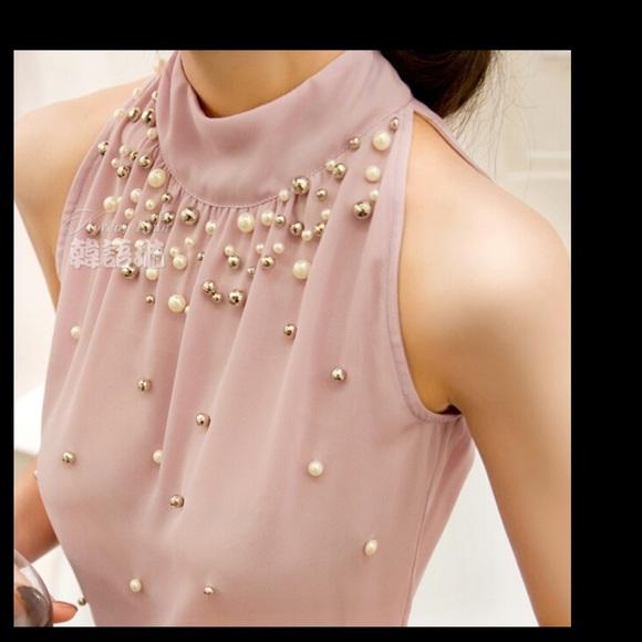 Tops Beautiful Pale Pink Dressy Blouse Poshmark