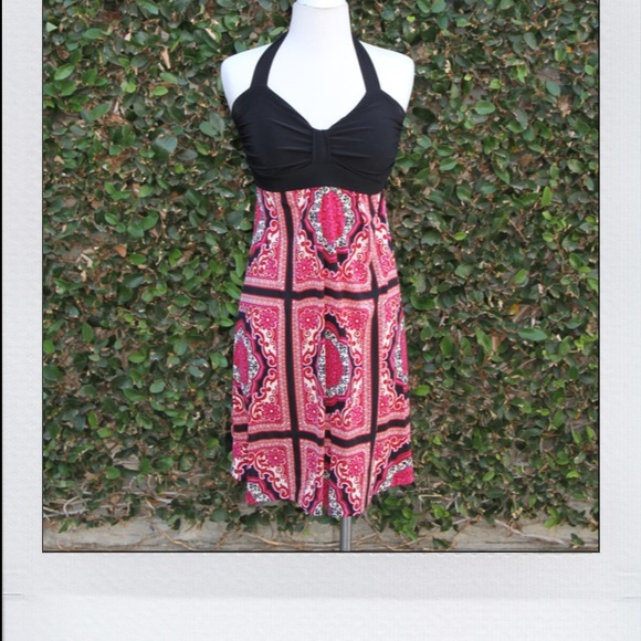 Poetry Dresses & Skirts - Pink & Black Mandala Dress