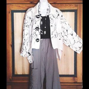 Marc Abbas Jackets & Blazers - Marc Abbas Hi-Lo Linen Designer Jacket LAGENLOOK