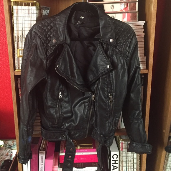 H&M Jackets & Blazers - H&M faux leather jacket