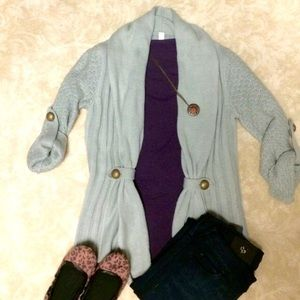 Grey Sweater Cardigan Only