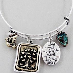 Jewelry - Tree of life live laugh love bracelet