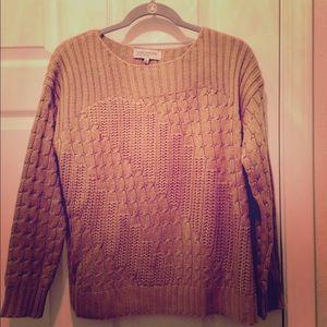 JONES NY Sport Petite medium tan sweater.