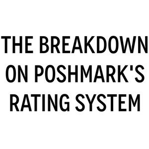 Jewelry - Get the Skinny on Poshmark's Rating System!