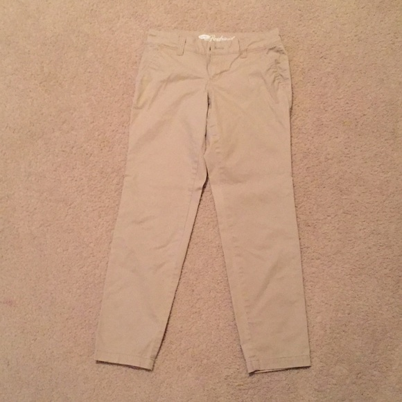 78% off Old Navy Pants - Khaki Capri Crop Pants -Old Navy ...