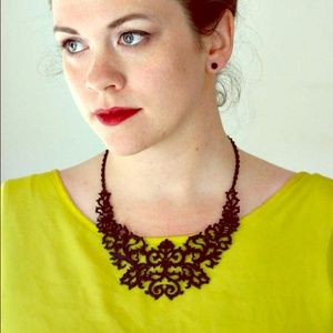 Jewelry - Baroque Black Matte Bib Necklace