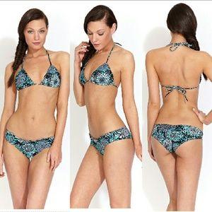New maya swimwear triangle bikini top curacao XS