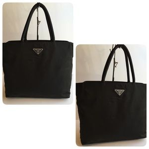 cd655a7fd5 Authentic Prada Nylon Black Tote