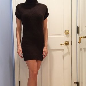 Brown Vince Sweater Tunic Dress