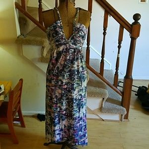 Dresses & Skirts - Tie dye maxi dress and lace back size 8