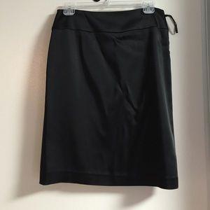 Black satin-feel skirt